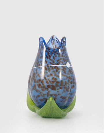 """Tulip Vase with 3 Leaves (5"""" Height)"""